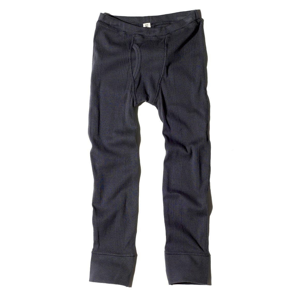 Goat-Milk Boys Ribbed Thermal Bottoms - Navy