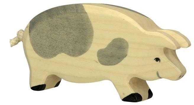 Wooden Spotted Sow Pig