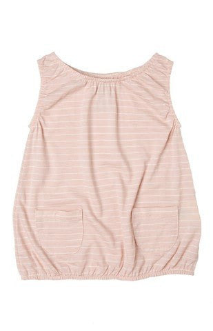 Merino Bubble Dress -  Pink Stripe