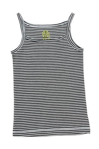 Merino Thermal Camisole - B+W Stripe