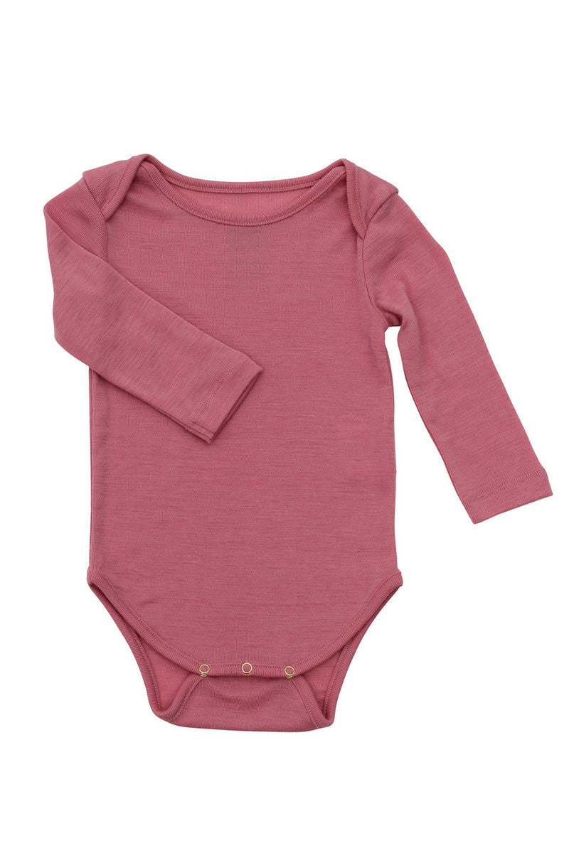Nui Merino Thermal Bodysuit - ROSE - 3/6M - SALE
