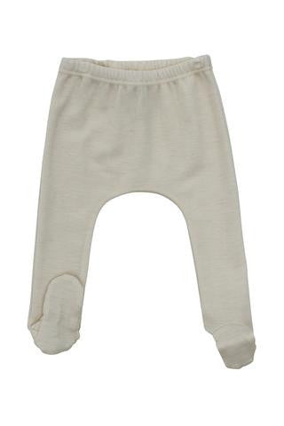 Nui Organics Merino Wool Thermal Footed Pants - fawn&forest