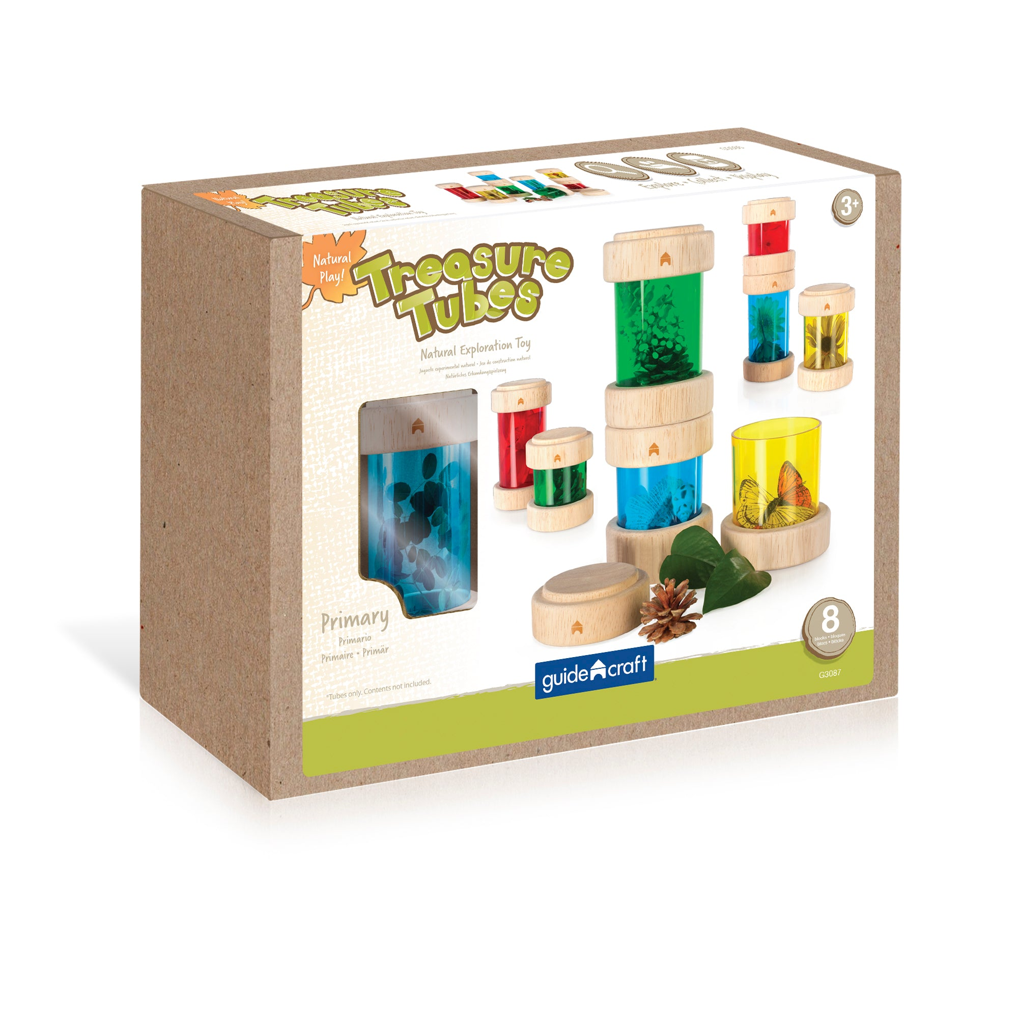 Guidecraft Treasure Tubes - Primary