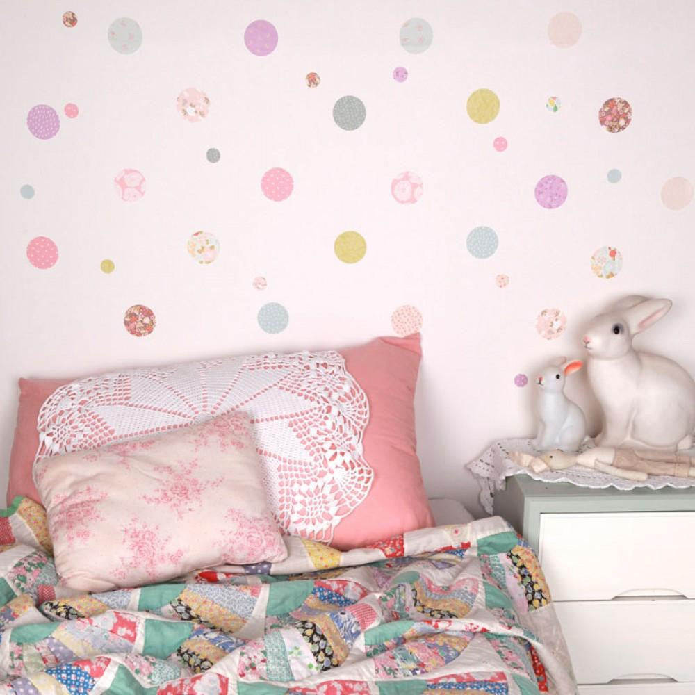Love Mae Polka Dot Fabric Wall Decal - fawn&forest