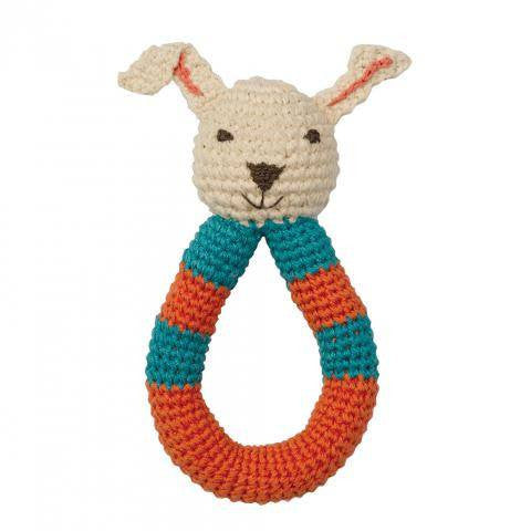 Babylonia Organic Rabbit Rattle - fawn&forest
