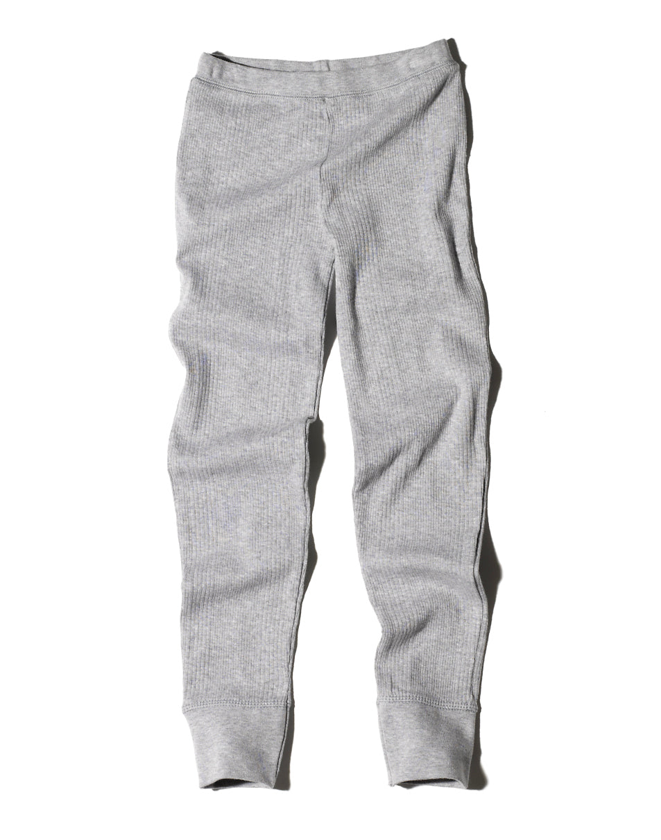 Goat-Milk Goat-Milk Girls Ribbed Thermal Bottoms - fawn&forest