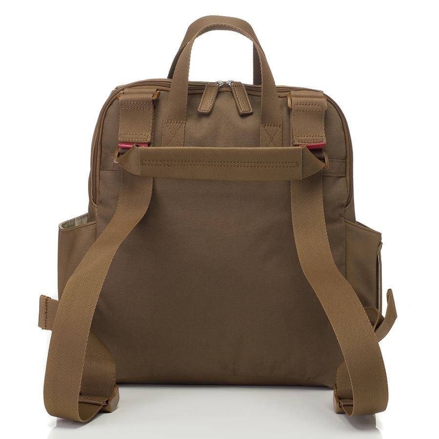 Babymel Robyn Convertible Backpack Vegan Leather Tan