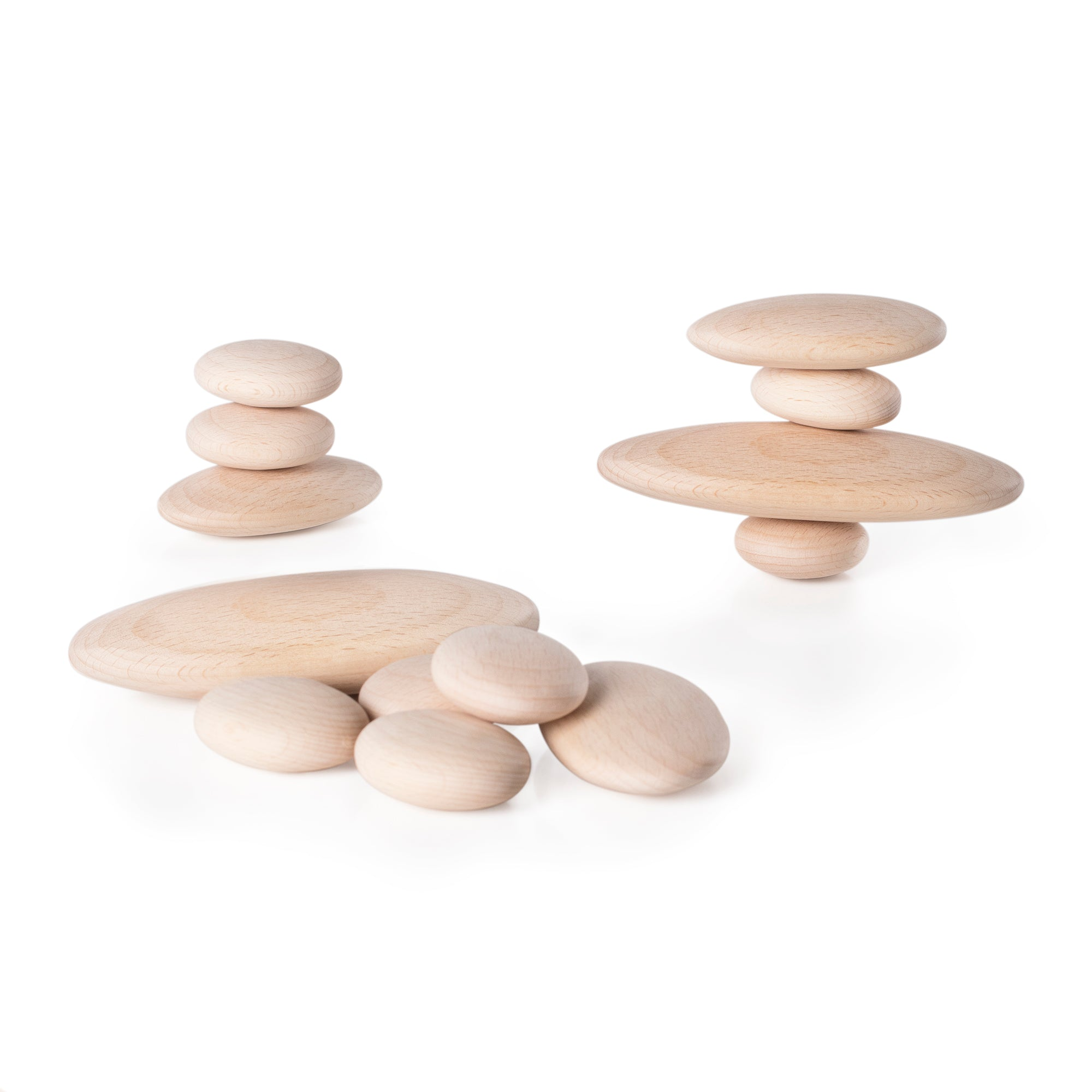 Guidecraft Wood Stackers River Stones