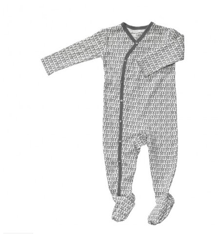 Petunia Pickle Bottom Crisp Cursive Footed Union Suit - fawn&forest