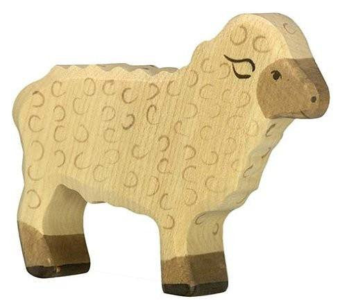 Wooden Cream Sheep