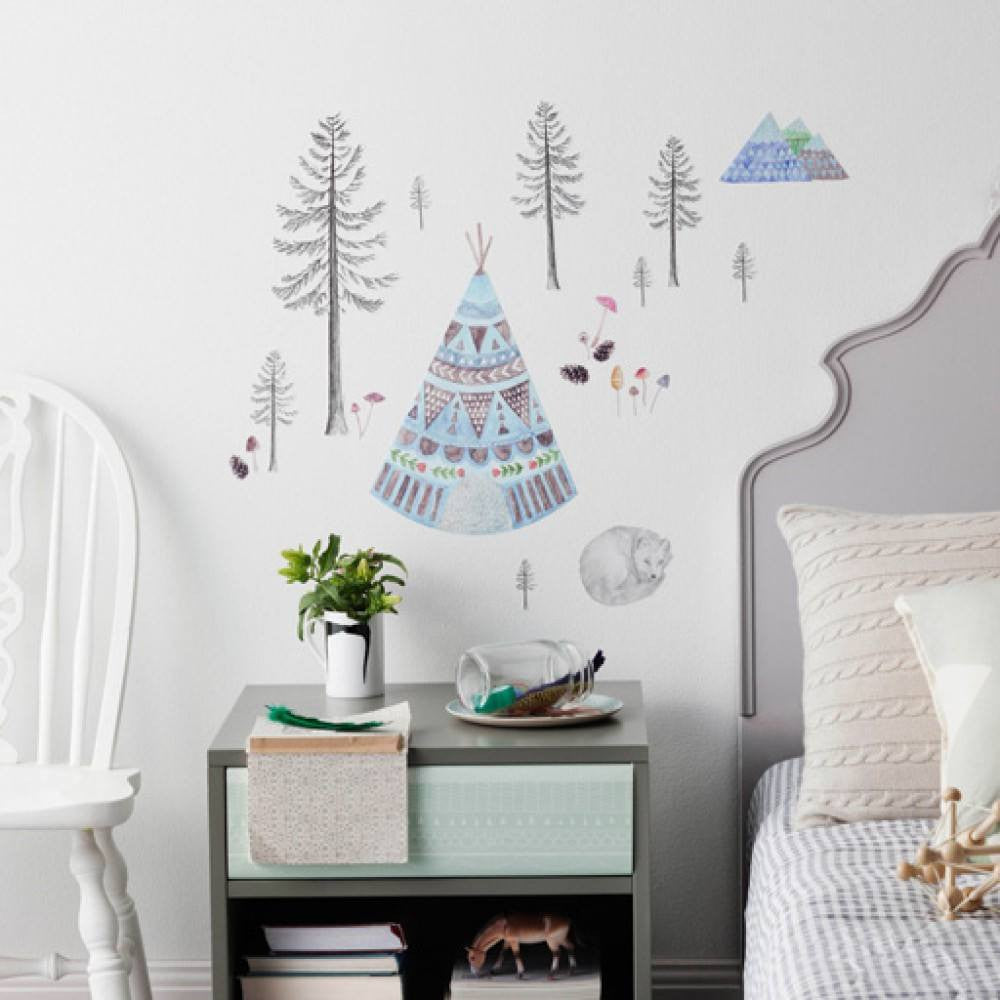 Sleeping Fox Fabric Wall Decal