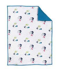 Nursery Works Nursery Works Oceanography Organic Hand Quilted Blanket - fawn&forest