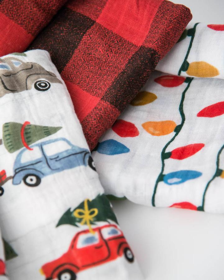 Little Unicorn Holiday Haul Swaddle Blanket Set