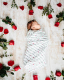 Little Unicorn Rose Vine Swaddle Blanket
