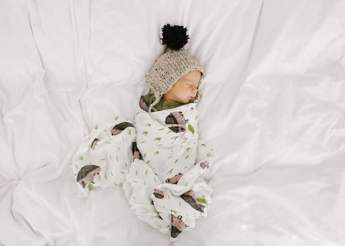Little Unicorn Hedgehog Deluxe Swaddle Blanket