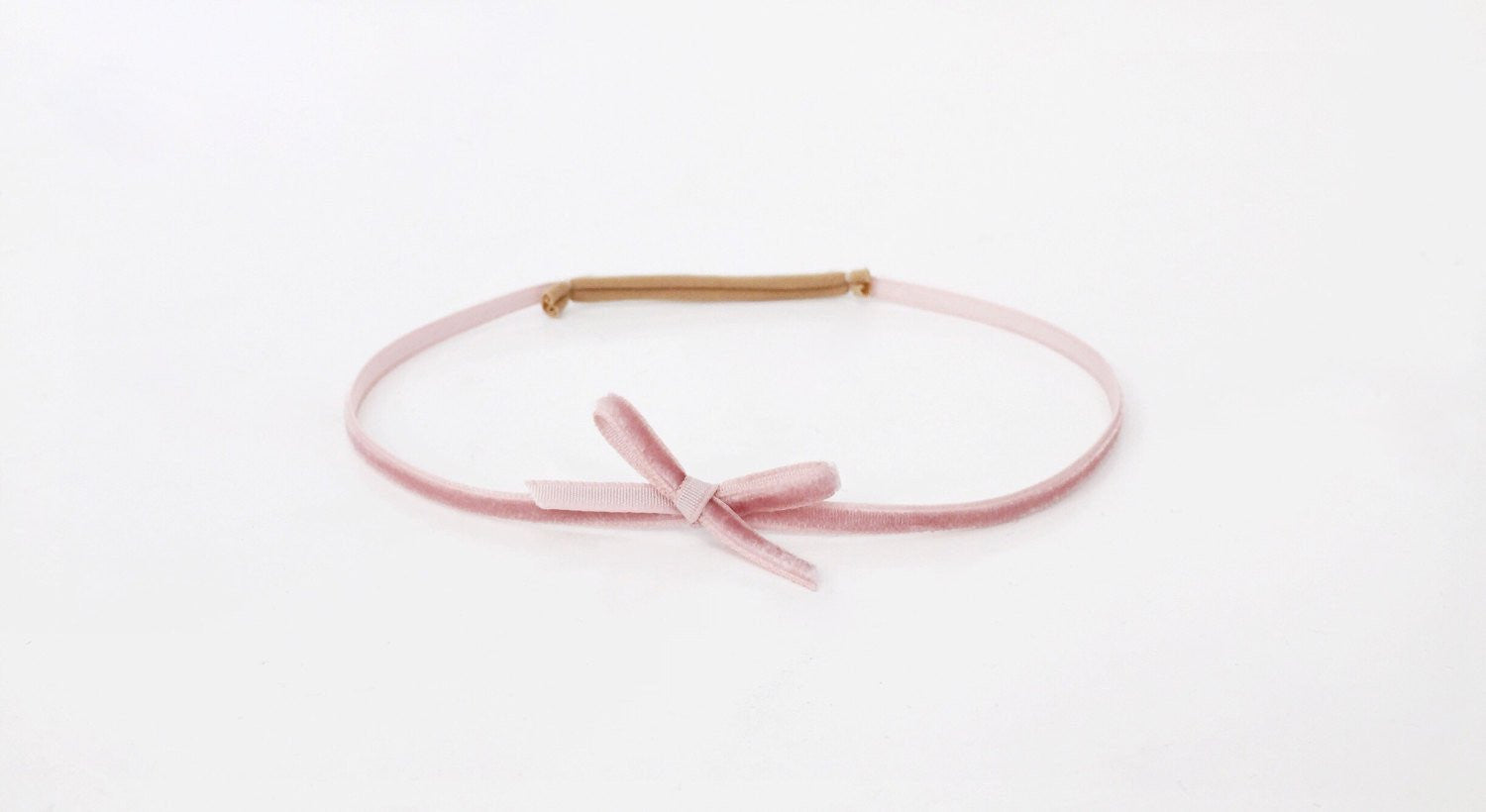 Little Crane Velvet Headband - Dusty Rose