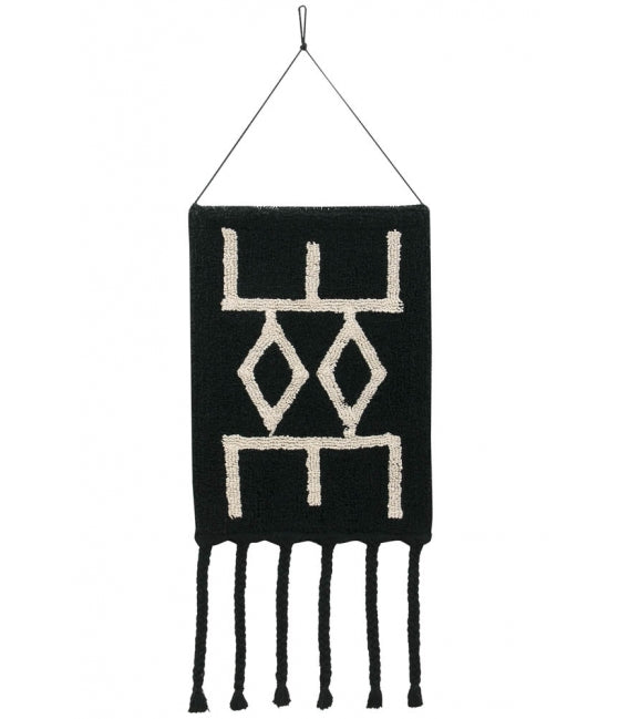 Lorena Canals Bereber Wall Hanging - Black