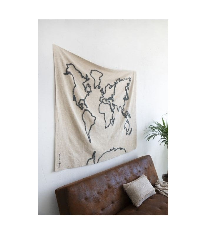 Lorena Canals Canvas Map Wall Hanging