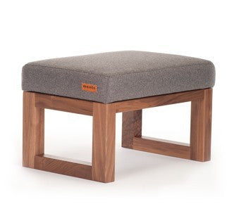 Monte Joya Ottoman Limited Edition Wool and Walnut Collection