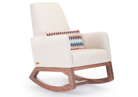 Monte Joya Rocker Limited Edition Wool and Walnut Collection - Oatmeal