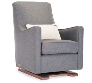 Monte Luca Glider Limited Edition Wool and Walnut Collection - Dark Grey