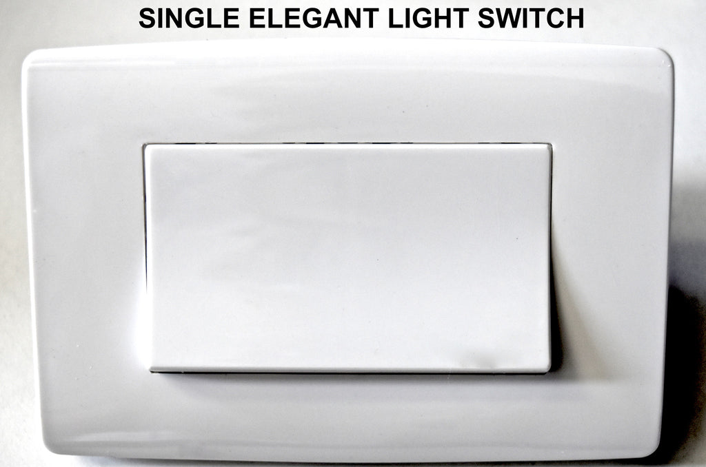 SINGLE EXTRA LARGE BUTTON LIGHT SWITCH - WHITE – EarthPit Australia ...