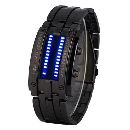 High Quality Men's  Luxury Alloy Date Digital LED Bracelet Sport Watches 2016 4W1Q