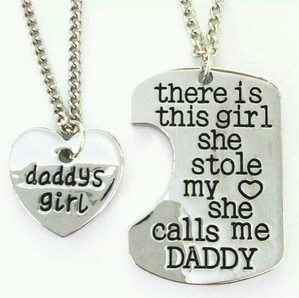 "Daddy's Little girl Pendant ""Keep her close to your Heart"""