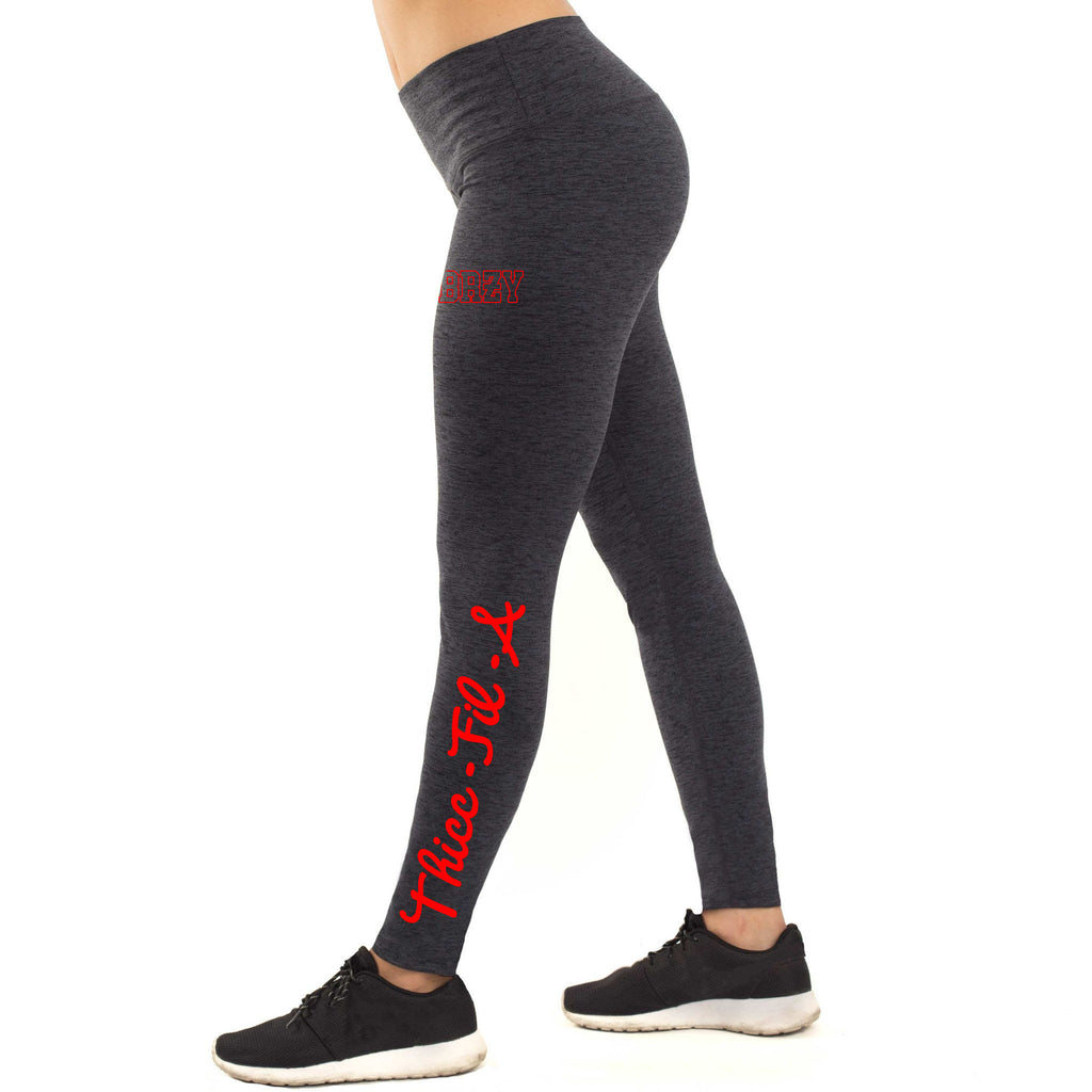 Premium Thicc Fil A Midnight Breezy High-Waist Leggings