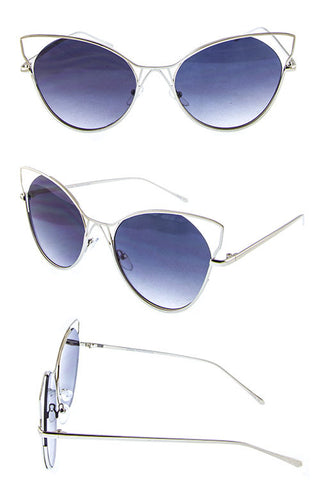 LUX METAL BUTTERFLY SUNGLASSES