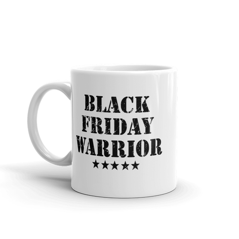 Black Friday Warrior, coffee mug