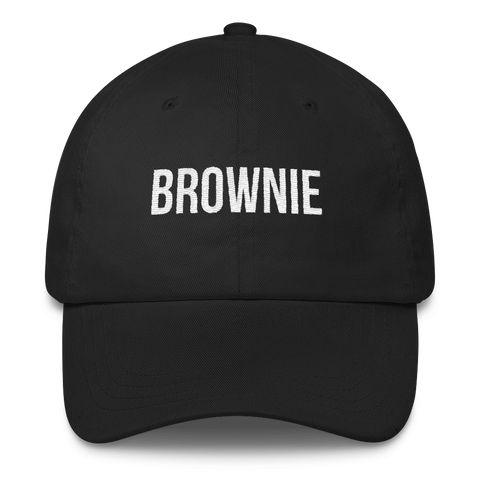 Brownie black dad hat