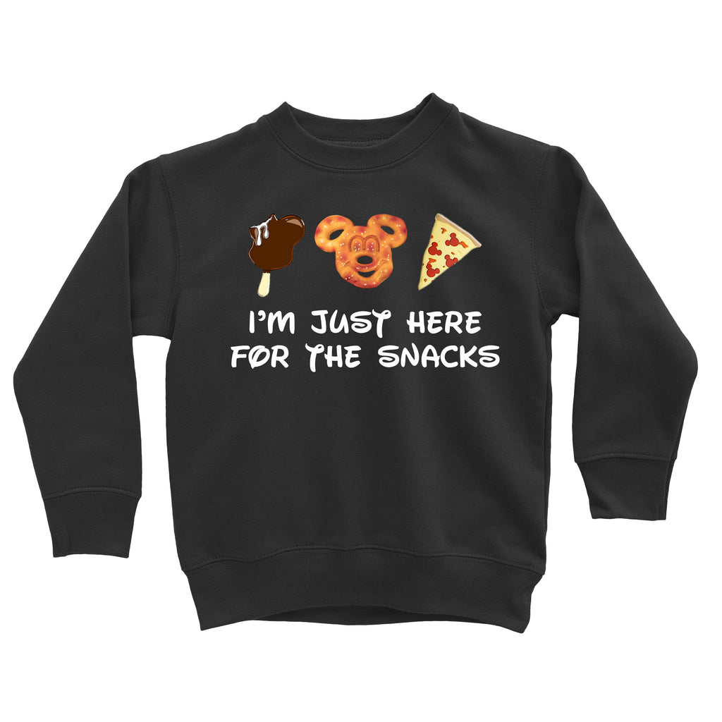I'm just here for the snacks sweatshirt