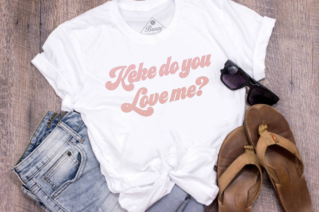 Keke do you love me? Limited edition rose gold metallic unisex tee
