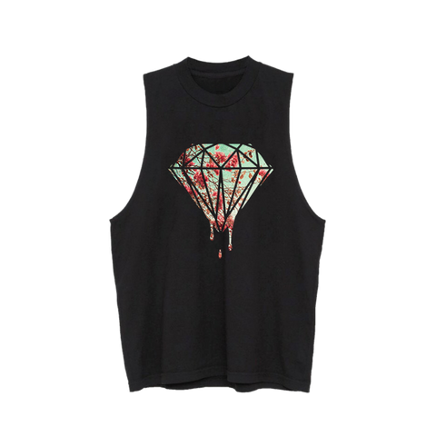 Cherry Blossom Diamond Drip Muscle Tank