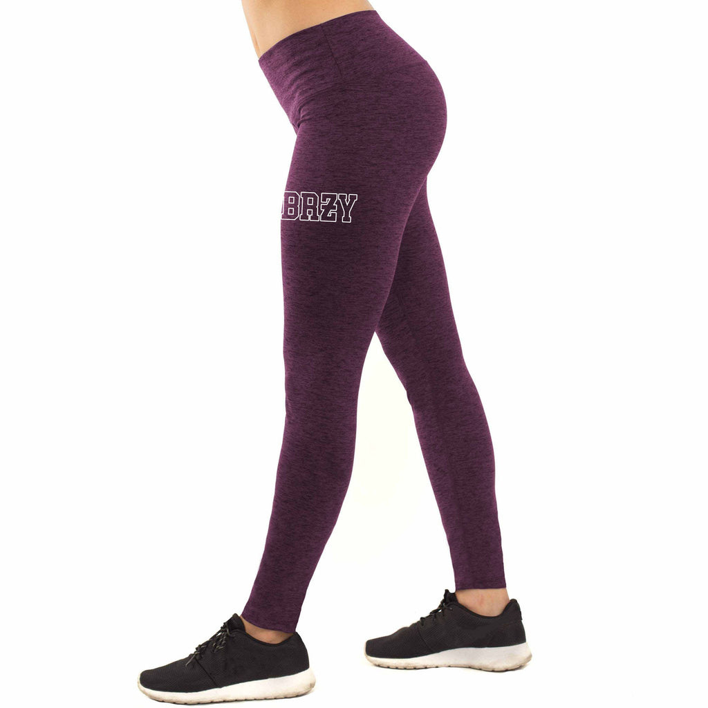 Premium Maroon Breezy High-Waist Leggings