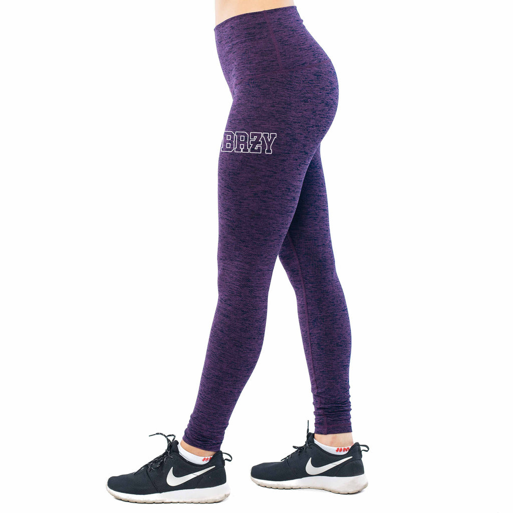 Premium Purple Breezy High-Waist Leggings