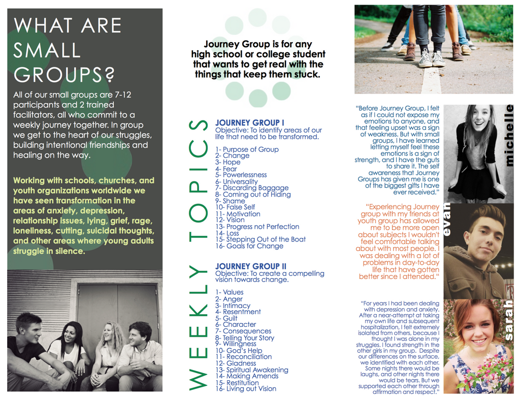 Journey Groups (Youth) Brochure