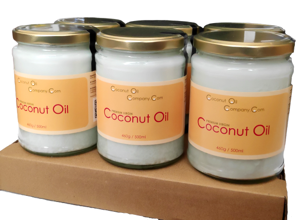 3 Litres of Virgin Coconut Oil (6x500ml jars)