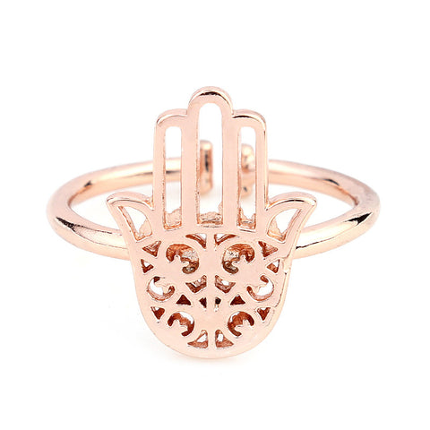 Hamsa Hand Midi Ring - Sacred Motivation - 1