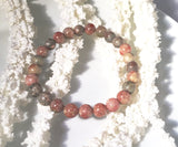 Autumn Jasper Beaded Statement Natural Stone Stretch Fashion Bracelet Gift For Her