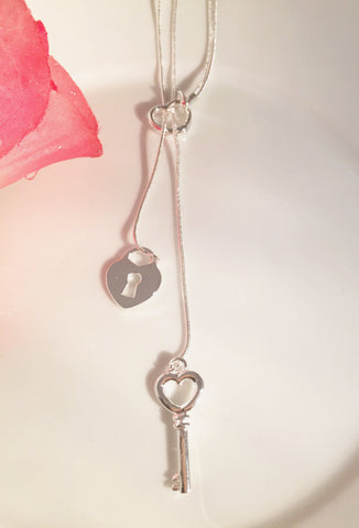 Heart and Lock Necklace - Sacred Motivation - 1