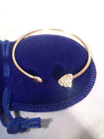 Simple Heart Bangle - Sacred Motivation - 1
