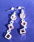 Multi Colored Cubic Earrings - Sacred Motivation - 2
