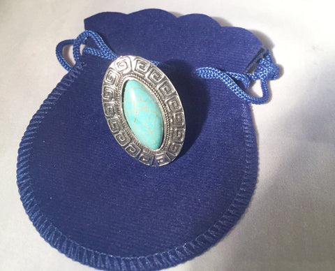Turquoise Oval Ring - Sacred Motivation - 1