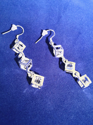 Think Outside The Box Earrings - Sacred Motivation - 1