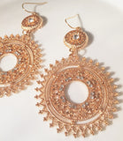 Bohemian Gold Earrings - Sacred Motivation - 2