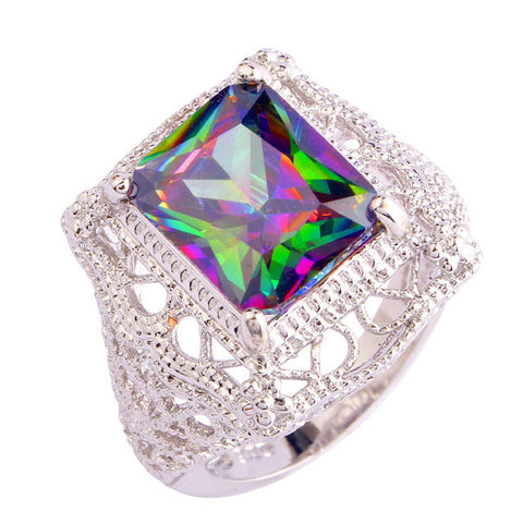Mystical Rainbow~ Square Ring - Sacred Motivation