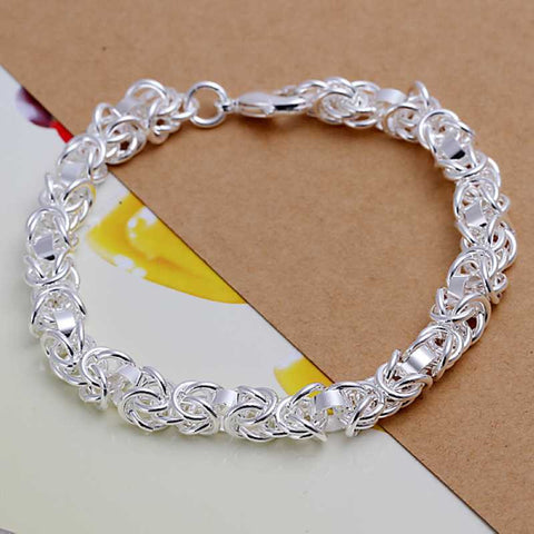 Silver Shrimp Link Bracelet - Sacred Motivation - 1