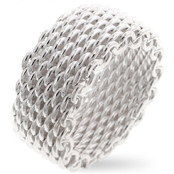 Silver Mesh Ring - Sacred Motivation - 1